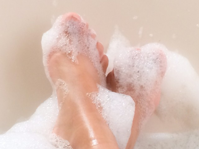 The novelty of a long hot bath